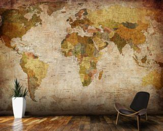 restickable wallpaper world map wallpaper map wall murals wallsauce