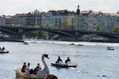 paddle boats on the vltava river vltava river spring activities foreigners cz blog