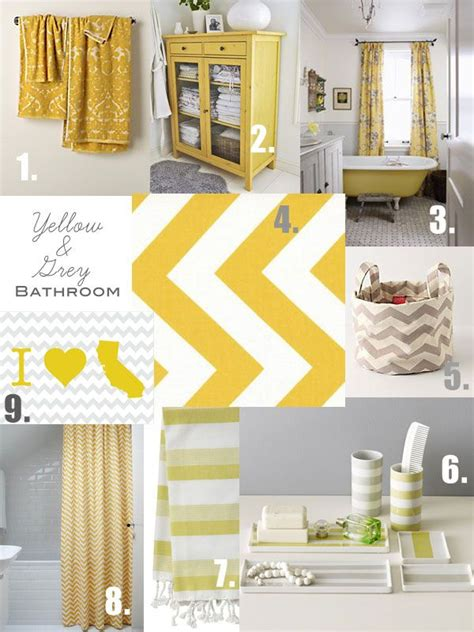 Yellow Gray Curtains Inspiration 11 Best Yellow Gray Bathroom Ideas Images On Pinterest