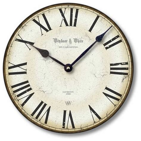 traditional wall clock item c8114 vintage style roman numeral clock traditional