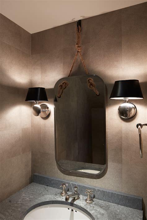 Artistic Bathroom Wall Mirrors Rope Mirror Contemporary Bathroom Artistic Designs For
