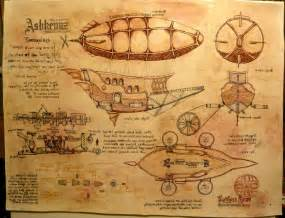Mid Century Modern Baby Furniture by Hand Crafted Steampunk Airship Custom Drawing Painting By