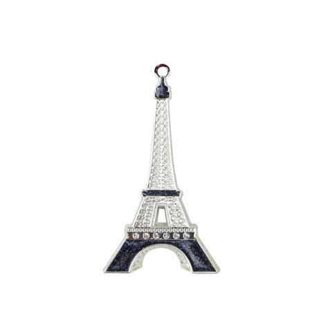 cut crystal eiffel tower xmas ornament northlight 3 5 in silver plated with accents eiffel tower tree ornament