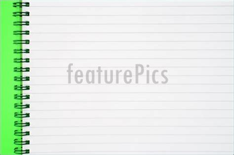 Mood Color Spiral Ruled Notepad image of an open spiral notepad with blank lined paper