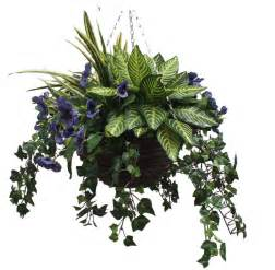 Plants That Do Not Need Sunlight by Artificial Pansy And Greenery Hanging Basket By Artificial
