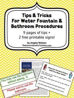 classroom bathroom procedures bathroom procedures on pinterest reception classroom