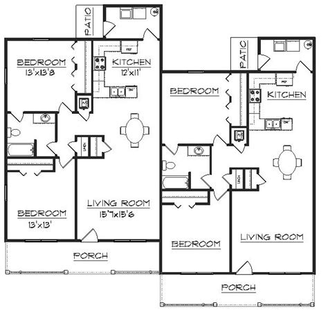 floor plan of a duplex duplex plan j2630d