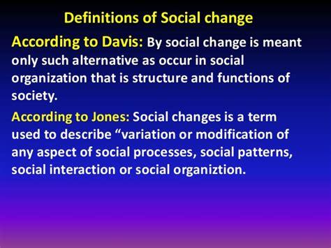 what pattern of organization describes a shift in time presentation on social change
