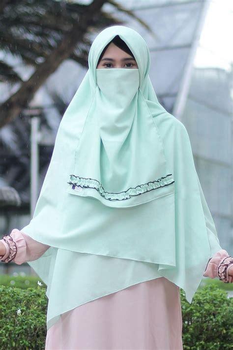 khimar jasmine mint anizah khimar khimar kerudung syar