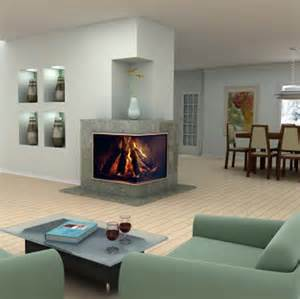 best interiors for home corner fireplaces modern 2 sided corner fireplace design