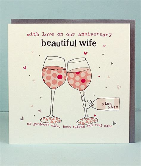 Beautiful Wife Anniversary Cards   Molly Mae Anniversary Cards