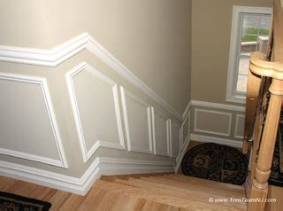 wainscot  picture frames contemporary staircase  york  trim team nj