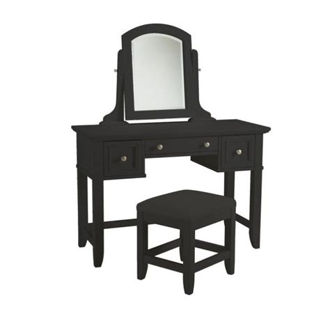Vanity Table And Bench by Vanity Table And Bench In Black Finish 5531 72