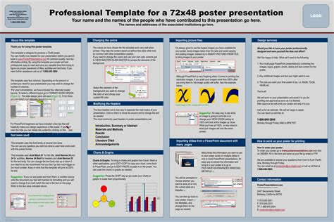 powerpoint template for poster printable design 187 report poster presentation