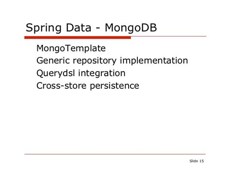 repository pattern mongodb c mongodb for java devs with spring data mongophilly 2011