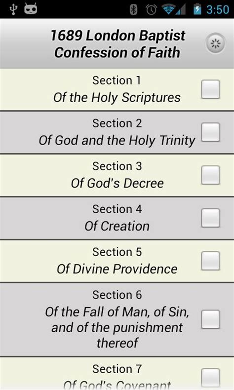 1689 baptist confession android apps on play