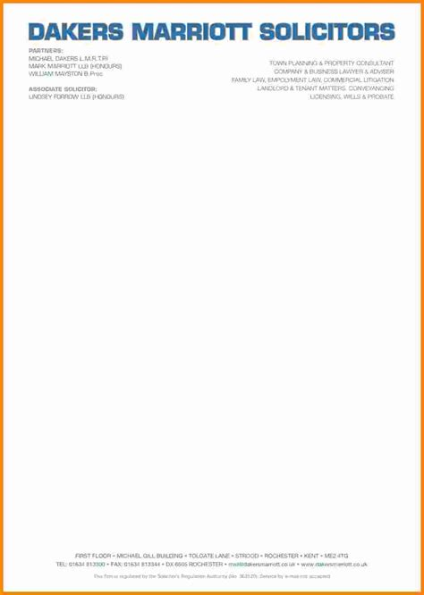 Official Letter Headed Paper 10 It Company Letterhead Sle Ledger Paper