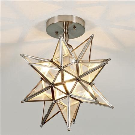 moravian ceiling light nickel modern flush mount