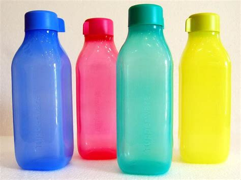 Tupperware Eco Bottle Terbaru tupperware square eco bottle 2 pcs 1l limited release