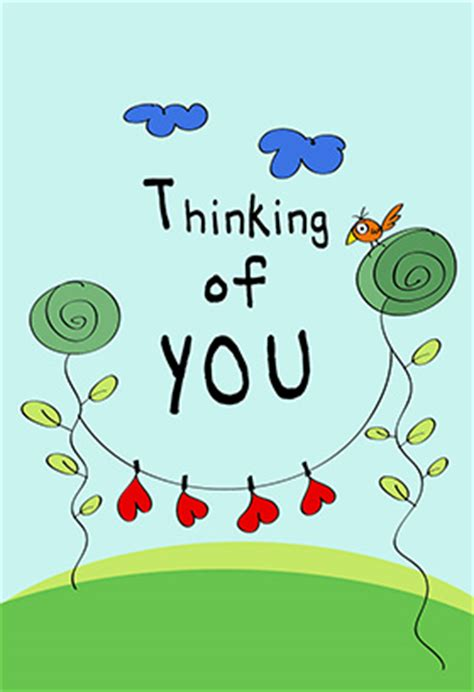 thinking of you free printable card greetings island