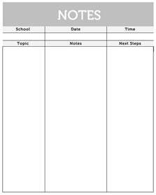 7 best images of printable meeting note taking template