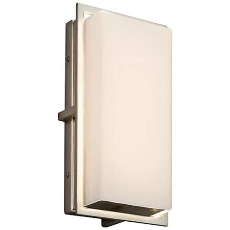 radcliffe 12 quot high matte nickel led outdoor wall light