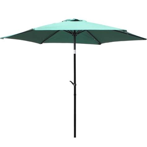 8 ft green aluminum patio umbrella outdoor sunshade w