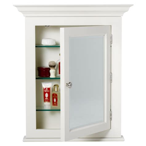 two sided medicine cabinet with swing glass door