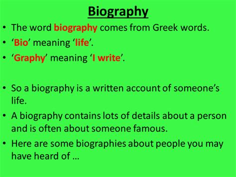 meaning of biography and autobiography year 6 biography and autobiography by stefanietuesday