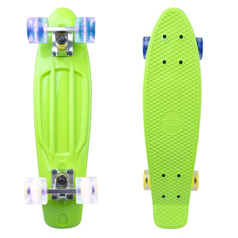 penny board light up wheels penny board worker sturgy 22 quot with light up wheels green