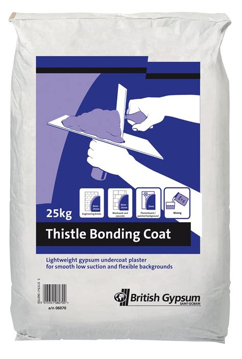 plaster b q thistle bonding coat undercoat plaster 25kg departments