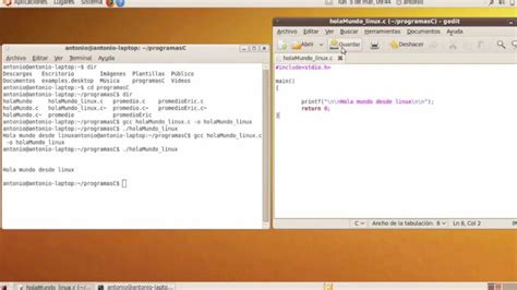 tutorial linux c tutorial programar c en linux 01 youtube