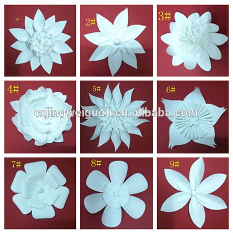 Beautiful Handmade Paper Flowers - beautiful handmade paper flowers wedding wall decoration