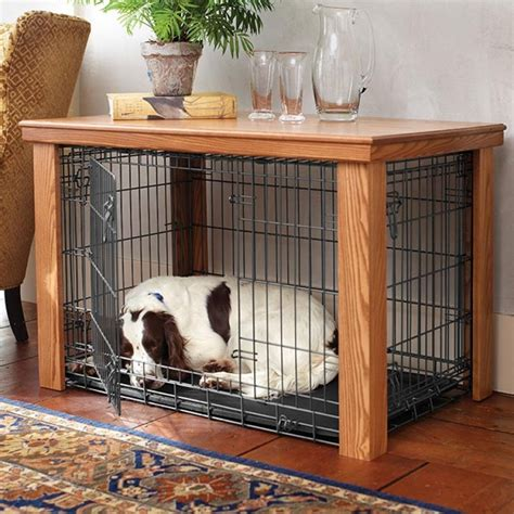 diy dog crate table top wooden table dog crate cover