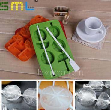 Cetakan Es Loli Jelly Dengan Gagang 4 Warna 4 Kotak jual cetakan es lolipop ada gagangnya bentuk jeruk lemon tokopastri