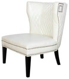 quilted ivory white leather club chair traditional