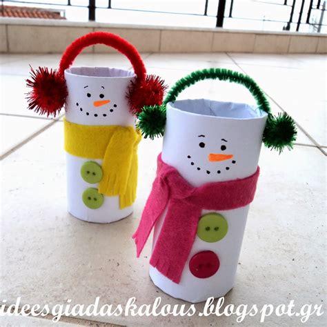 Paper Roll Crafts - toilet paper roll snowman toilet paper rolls egg cartons