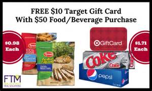 Target Food Gift Cards - target 10 gift card with 50 food purchase hot stackable deals ftm