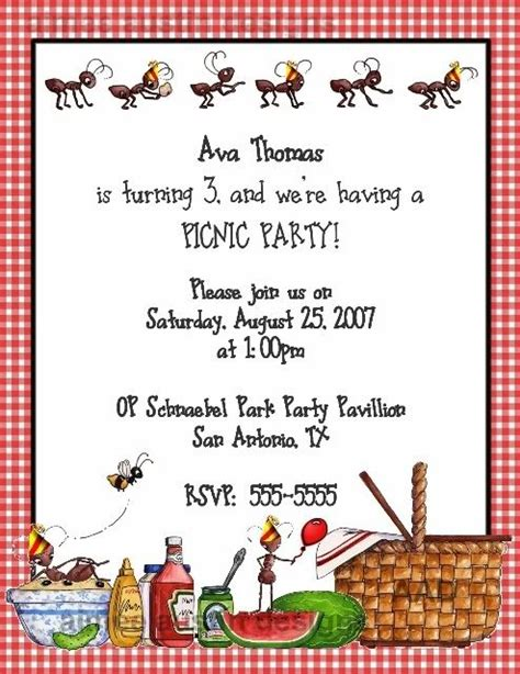 Invitation Letter Format For Picnic 25 Best Ideas About Picnic Invitations On Popsicle Sticks Pallet Coasters And Diy