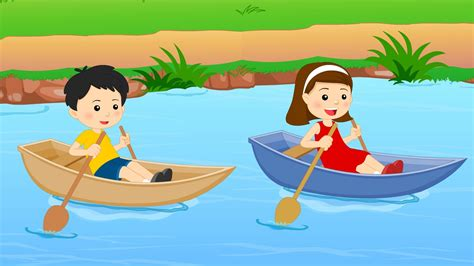 row your boat kindergarten row row row your boat nursery rhyme youtube