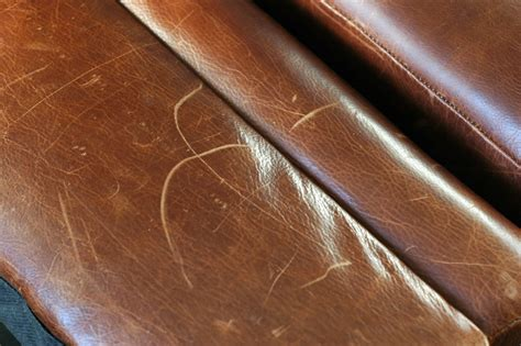 scratched leather couch how to remove scratches from leather