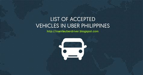 uber accepted cars list of accepted vehicles in uber manila philippines 2016