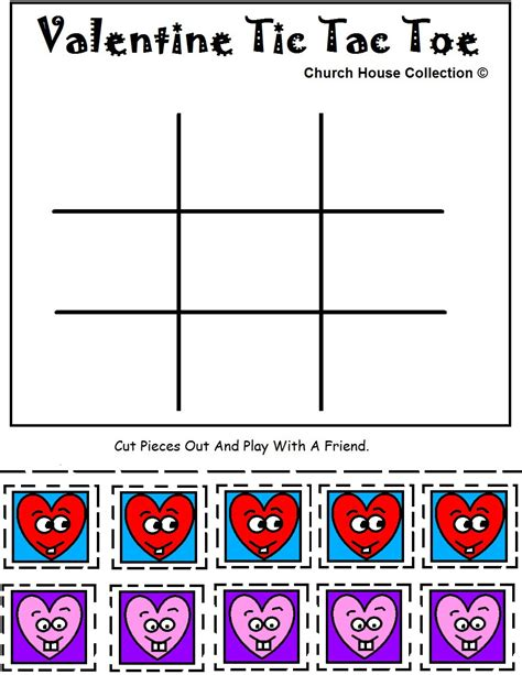 Church House Collection Blog Printable Valentine Tic Tac Free Tic Tac Toe Template