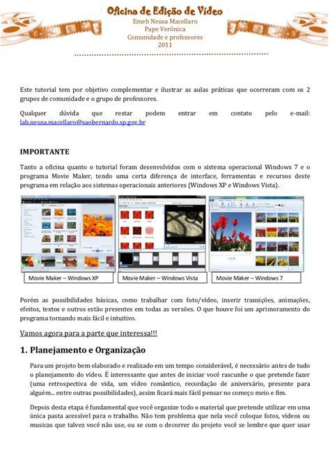 tutorial movie maker pdf portugues tutorial movie maker