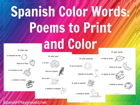 words that rhyme with colors color words rhymes to print and color