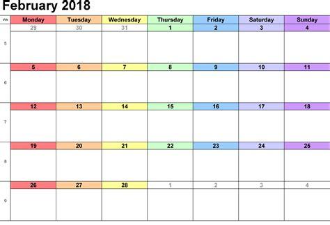 10 feb day february 2018 printable calendar printable calendar