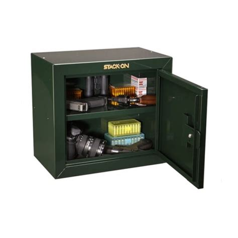 stack on pistol ammo green steel gun cabinet