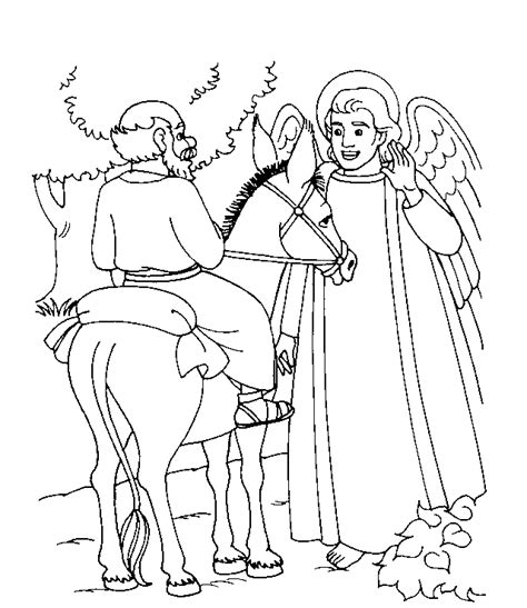 talking donkey coloring page balaam bible coloring pages pinterest