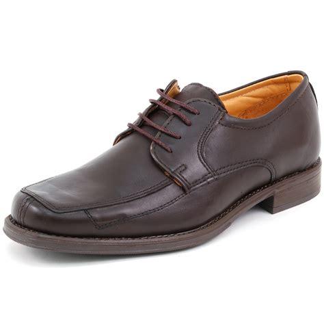 oxford s dress shoes mens lace up oxfords dress shoes genuine leather moc toe