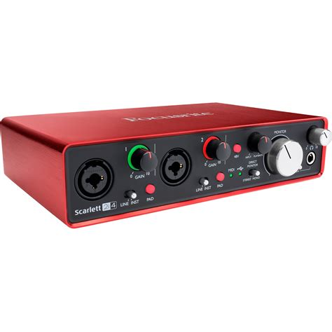 best focusrite audio interface focusrite 2i4 usb audio interface 2i4 b h
